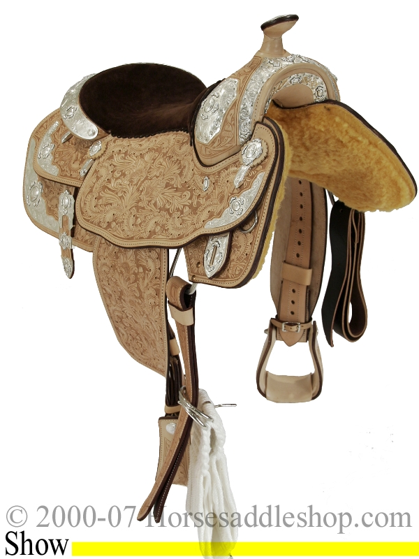 16inch Silver Premium Show Saddle by Billy Cook